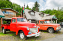 Red Pick Up Trucks, Forks, Washington
