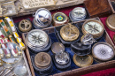 Antique Compasses in a London Shop