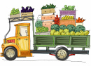 Truck Full and Vegetables
