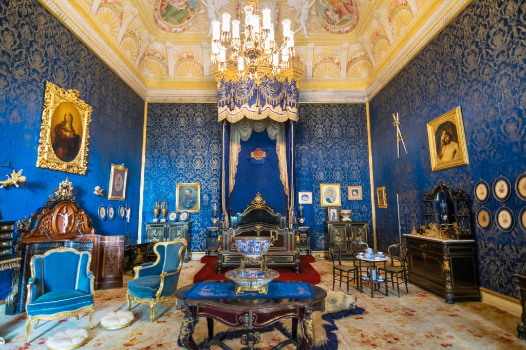 King S Bedroom Ajuda National Palace Portugal Jigsaw Puzzle In Castles Puzzles On Thejigsawpuzzles Com