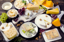 Assorted Cheeses and Fruits