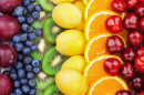 Rainbow of Fresh Fruits