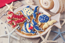 Marine Party Cookies