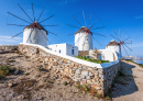 Mykonos Windmills, Cyclades, Greece