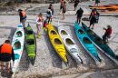 Kayakers in Cape Town, South Africa