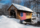 Snow Covered Bridge in New Hampshire