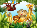 Wild Animals in the Jungle
