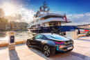 BMW I8 at the Marina in Birgu, Malta