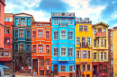 Balat District in Istanbul, Turkey