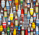 Buoys in Provincetown, Massachusetts