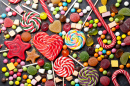 Colorful Sweets, Lollipops and Candies