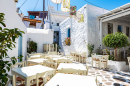 Street Cafe in Naxos, Greece