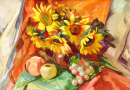 Still Life with Fruits and Sunflowers