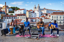 Street Music Band in Lisbon, Portugal