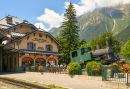 Railway Station of Chamonix-Mont-Blanc, France
