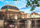 Bridge and National Theater in Prague