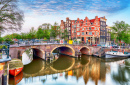 Bridges over Canals in Amsterdam, Netherlands