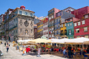 Historic Ribeira Square of Porto, Portugal