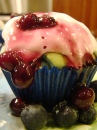 Blueberry Blue Curacao Cupcake