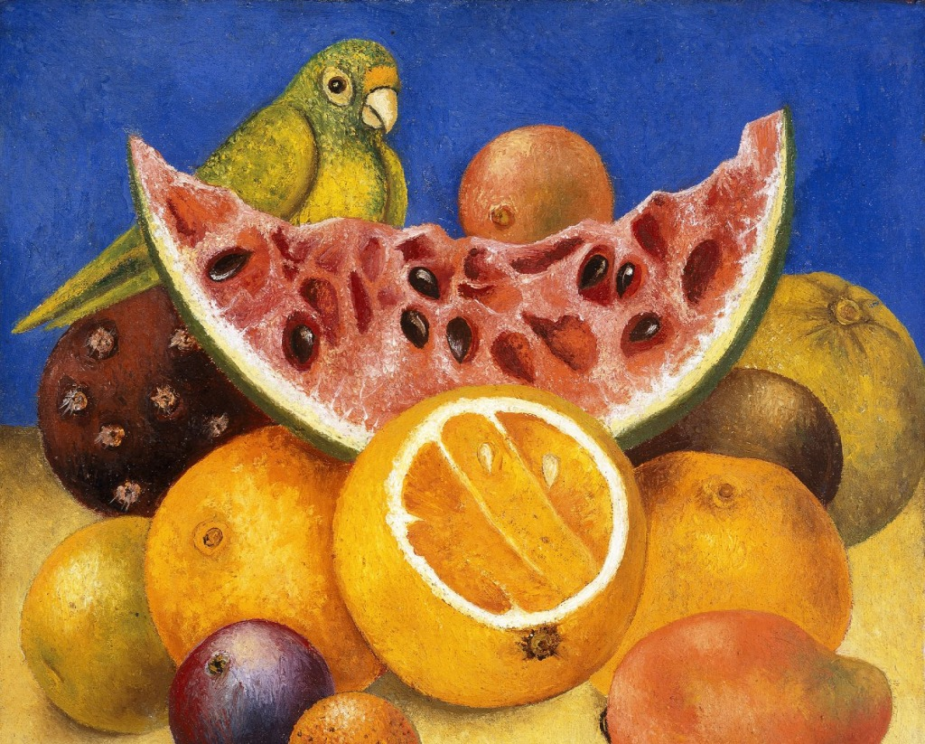 Still Life with Parrot and Fruit jigsaw puzzle in Fruits ...