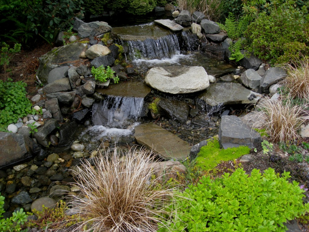 Seatac Botanical Garden Jigsaw Puzzle In Waterfalls Puzzles On