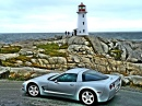 Corvette at Lighthouse