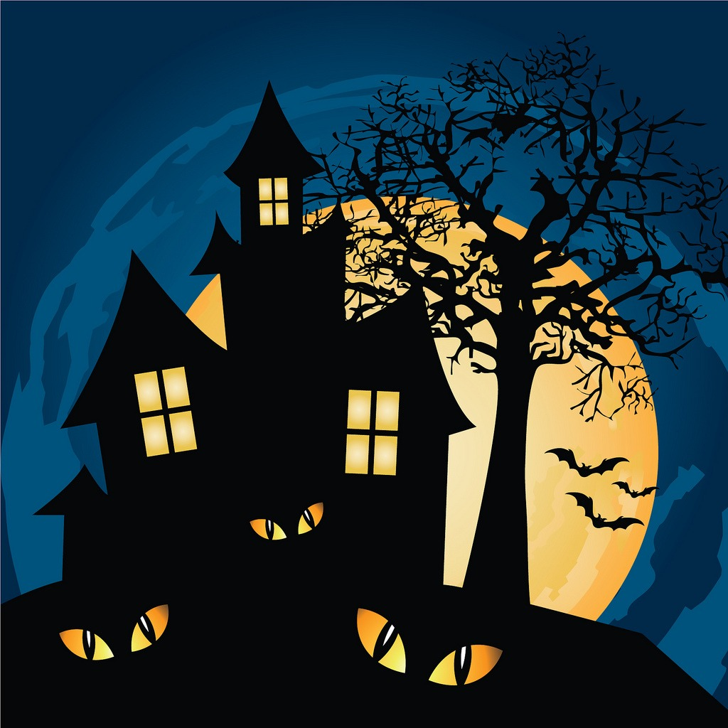 Haunted house jigsaw puzzle in halloween puzzles on - Cartoon haunted house pics ...