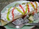 Dragon Fruit Kiwi Crepe